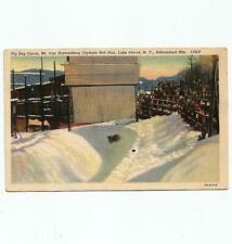 Vintage Postcard Olympic Games Lake Placid New York Bobsled Run Adirondack Mts.