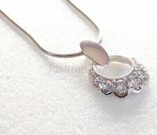 Mujer Niña circonia cúbica transparente Cristal Solo colgante