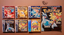 Original Gameboy Boxed Pokemon Games: Red, Blue, Yellow, Gold, Silver, Pinball