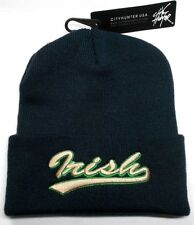 Notre Dame Fighting Irish COLORS on 3D Direct Embroidered Beanie Knit Cap hat!