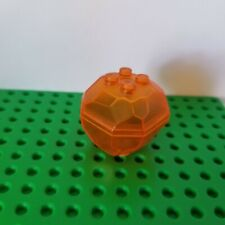 New Lego Trans Orange BOULDER Clear Rock Opens Engagement Ring Box Container