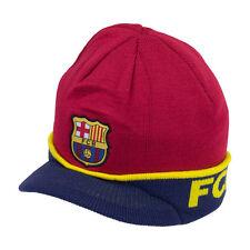 FC Barcelona  Visor Blue  Beanie Cap Hat  By Rhinox