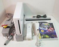 Nintendo Wii Console RVL-001 Bundle w/ Controller, Nunchuk , & Super Mario Game