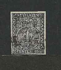 Parma 1852 - 10 c. bianco - Sassone 2 - Firmato - Usato - ASI050