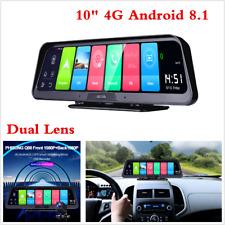 "10"" 4G Touch Android 8.1 Car GPS Navigator Console Dual Lens DVR Camera Dash Cam"