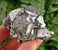 Rare Galena Crystallization with Pyrite, Crystal, Mineral, natural Crystal