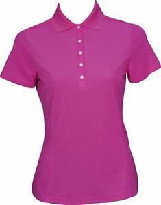 Padraig Harrington Ladies Short Sleeved Golf Polo Shirt Sm Size 8 Fuchsia Pink
