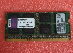 Kingston PC3 12800 8GB 1X8GB KTD-L3C/8G 1600MHZ 1.5V Ram memory laptop