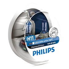 2x PHILIPS Diamond Vision 5000k Headlight Bulb H11 55W - Authentic Germany NEW