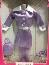 1997 barbie Doll fashion avenue purple skirt hatbox stockings satin #18126 NRFB