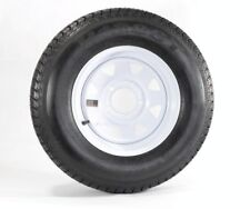 Eco Trailer Tire Rim ST175/80D13 175/80 B78-13 LRC 5 Lug Wheel White Spoke