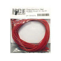 NCE 5240273 Power Drop Wire 22 Gauge 16in Red 32pk