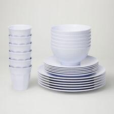 Barel Designs Classic White Melamine 48 Piece Dinner Set - Cups, Bowls, Plates