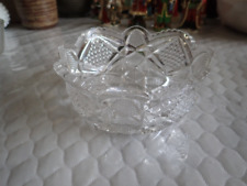 """Crystal Scalloped Octagon 6 1/4"""" Cut Glass Bowl"""