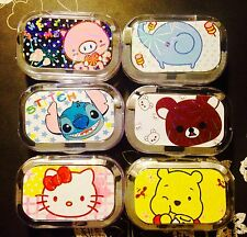 FREE SHIPPING Cute Contact Lens Cases Set Travel Size Container Kit N1-N6