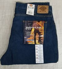 Dickies 9393RNB Regular Fit Denim Work Jeans Fits Over Boots 40 W 36 L NWT