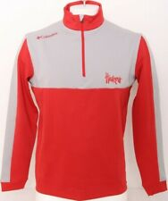 New Nebraska Cornhuskers Columbia Golf 1/4 Zip Red Ls Pullover Jacket Men's M