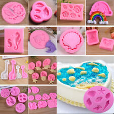 Xmas Shell Animals Silicone Fondant Mold Cake DIY Cookies Sugarcraft Baking Tool