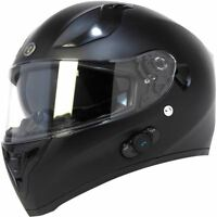 Torc T15B Flat Black Bluetooth Helmet Blinc Full Face DOT XS-2XL