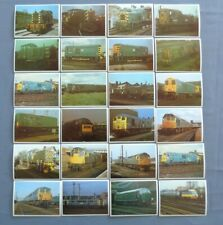 Rail Enthusiast Full Set 48 British Diesel and Electrical Railway Engines 1984