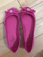 NEW Kate Spade Jelly Ballerina Raspberry Shoe Size 6 US Free Shipping! Cute