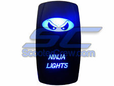 UTV Rocker Switch Blue Led On Off Ninja Light Toggle Square 5 tab Dune Sand Boat