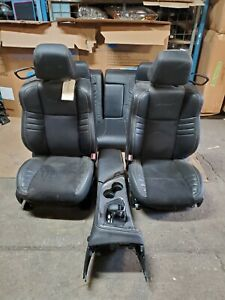 2015-2021 Dodge Challenger SRT Car Seats Black Leather  & Suede OEM 5 pc