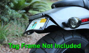 License Plate Tag Mount for 2018 2019 2020 Harley-Davidson Fat Bob (FXFB/FXFBS)