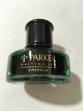 RARE PARKER PENMAN EMERALD GREEN WRITING INK 50ML - NEW OLD STOCK - BOXED.