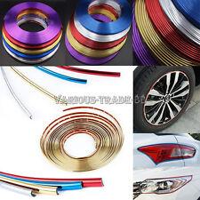 Glossy PVC Car Wheel Hub Rim Edge Protector Ring Tire Guard Line Strip Sticker