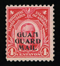 GENUINE GUAM SCOTT #M2 MINT OG NH 1930 CARMINE GUARD MAIL OVERPRINT SCV $325