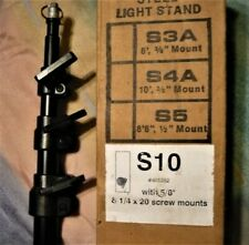 Smith Victor, S10 Light Stand with 5/8 stud /  1/4-20 mounts. Store Demo, SAVE !