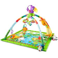 NIB Fisher-Price Rainforest Music & Lights Deluxe Gym for Baby Infant