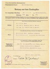 Auszug aus dem Taufregister Meldorf 1863/1942 Stempel