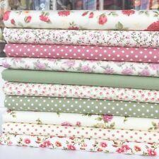 """Bundle 10  fat quarters cream floral favourites florals spots & plains 18 x 22 """""""