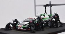 1:43 SCALE IXO RACING TEAM PIT STOP SCENE WITH 6 CREW DOLLS BLACK SUITS - RARE