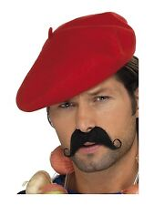 RED FRENCH BERET BASTILLE DAY MIME FRANCE hat Costume NOVELTY