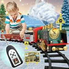 More details for remote control steam train sets w/ smoke,light,sounds,classical electric train
