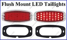 Flat Mount Red LED Taillights Roll Pan Bumper Custom Chevy Pickup Truck C4148