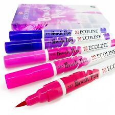 Set of 5 Royal Talens Ecoline Liquid Watercolour Drawing Brush Pens - Violet