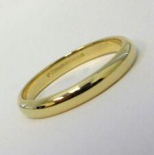 TIFFANY & Co. Classic 18K Yellow Gold 3mm Lucida Wedding Band Ring 8.5