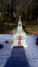 Vintage Christmas partylite tealight house