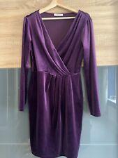Purple Velvet Oasis Party Dress - Size Medium (12-14)