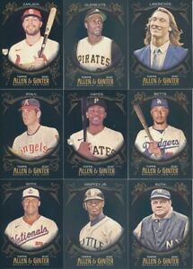 2021 Topps Allen & Ginter X - BASE & ROOKIE CARDS - Card #s 1-300 - U Pick