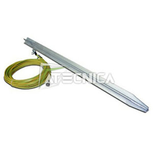 Peg Of Develop Ground Zinc-Plated For Generators Of Current 1mt +2m Cable 6mm