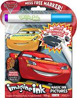NEW 24pg Disney Pixar Cars 3 Imagine Ink Magic Pictures Activity Book, Mess Free