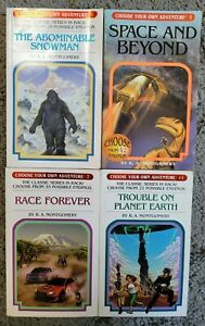 Lot of 4 CHOOSE YOUR OWN ADVENTURE Series Montgomery CYOA PB Books 1, 3, 7, 11