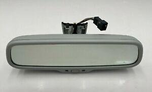 11-14 AUDI A8 A8L S8 - INTERIOR REAR VIEW MIRROR AUTO DIM W/ COMPASS SILVER OEM