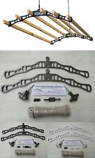 6 LATH Victorian kitchen ceiling pulley Clothes horse airer dryer rack laundry