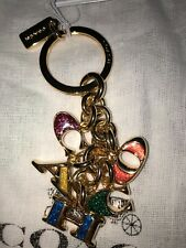 Coach Letters Multi-mix Gold/MLT-colors Key Fob/Ring/Chain F40679 NWT